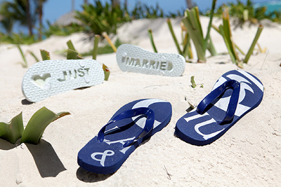 Just Married Flip-Flops